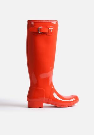Hunter Original Tour Gloss Boots Tent Red