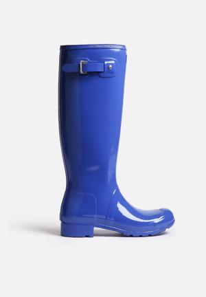 Hunter Original Tour Gloss Boots Bright Cobalt