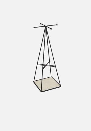 Umbra Prisma Jewellery Stand Organisers & Storage Steel With Linen-Lined Tray