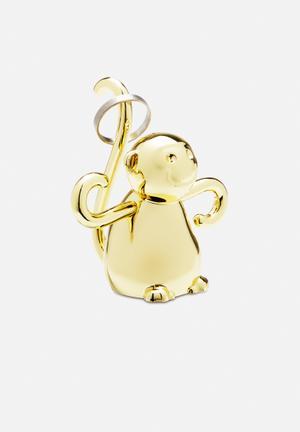 Umbra Zoola Monkey Ring Holder Organisers & Storage Brass Finish