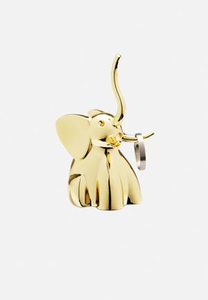 Umbra Zoola Elephant Ring Holder Organisers & Storage Brass Finish