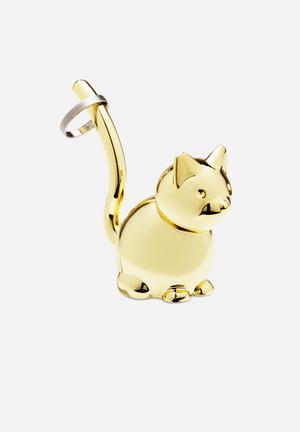 Umbra Zoola Cat Ring Holder Organisers & Storage Brass Finish