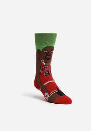 Stance Socks NBA Legends Rodman Socks Red