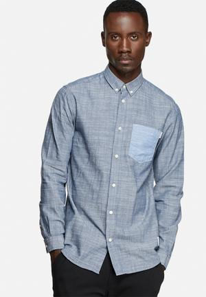 Jack & Jones CORE Alton Slim Shirt Gray / Blue