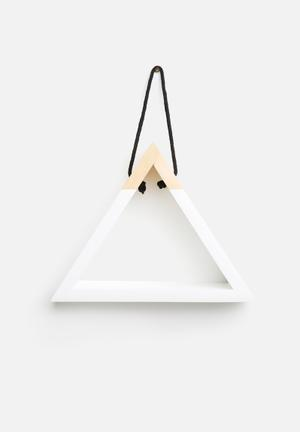 Sixth Floor Triangle Hanging Shelf White