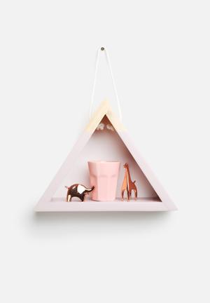 Sixth Floor Triangle Hanging Shelf Savanna Pink