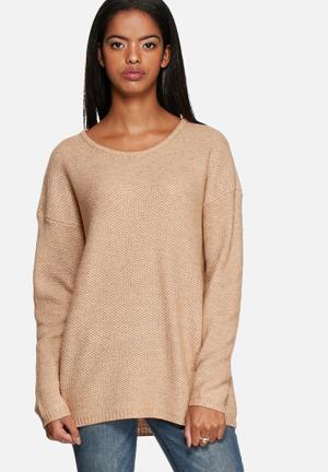 Selected Femme Misa Knit Sweater Knitwear Camel