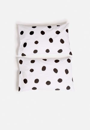Zana X Superbalist Dots Pillowcase Set Bedding 250TC Cotton Percale