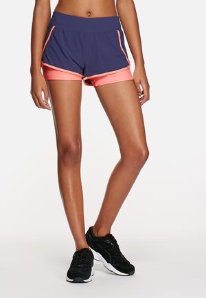 The Northface Dynamix Stretch Short Bottoms Patriot Blue / Neon Peach Heather