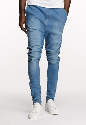 Basicthread Deco Pants Light Denim