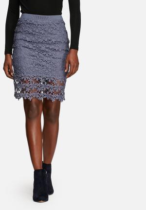 ONLY New Liva Lace Skirt Vintage Indigo