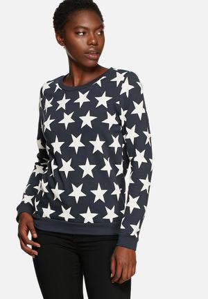 ONLY Star Sweat T-Shirts, Vests & Camis Navy