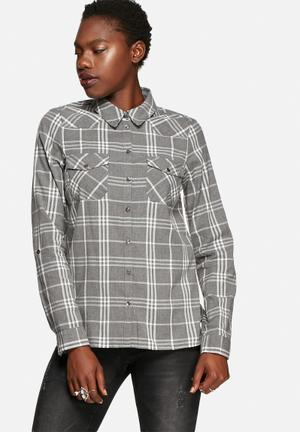 Noisy May Erik Shirt Grey