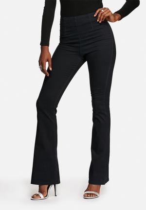 Noisy May Emma Flared Pants Trousers Black