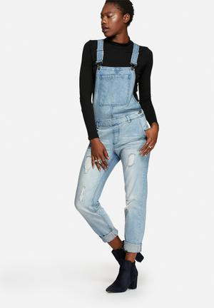 Noisy May Kayla Dungaree Jeans Medium Blue Denim