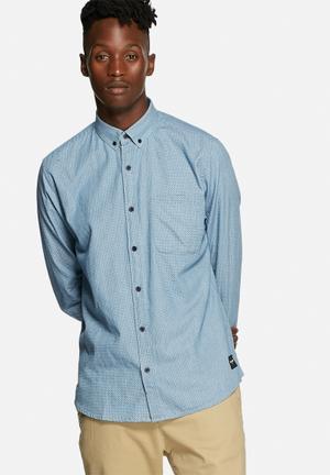 Only & Sons Carlos Slim Shirt Medium Blue Denim