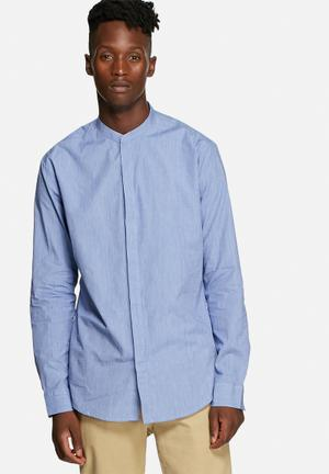 Only & Sons Abe Slim Shirt Medium Blue Melange