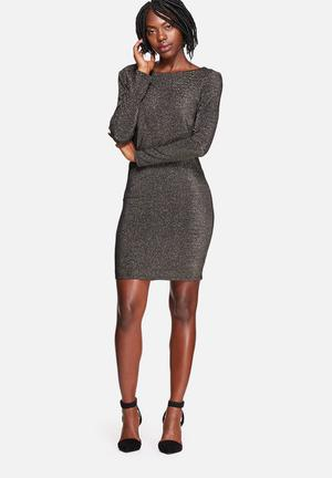 Vero Moda Wendy Dress Occasion Black With Gold