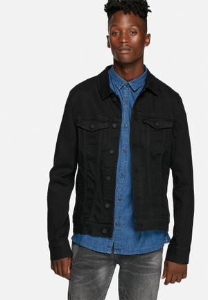 Only & Sons Torn Slim Black 3280 Jackets Black