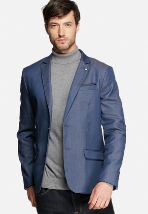 Selected Homme Zero Road Blazer Jackets & Coats Dark Blue Melange