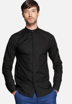 Selected Homme China Slim Shirt Black