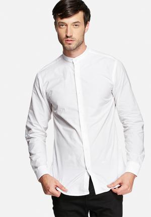 Selected Homme China Slim Shirt White