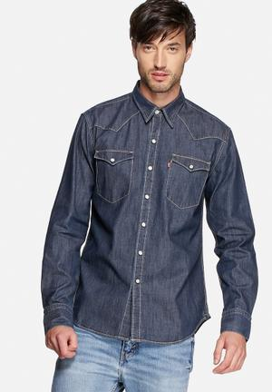 Levi's® Barstow Western Shirts Red Cast Rinse