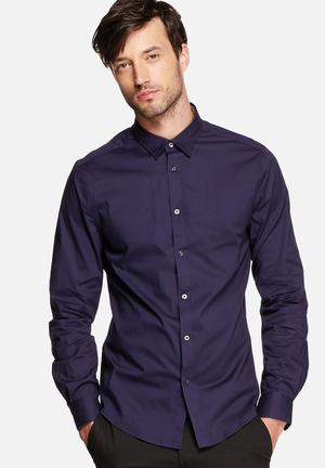 Ben Sherman Long Sleeve Slim Shirt Eclipse