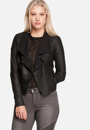 Y.A.S Castro Leather Jacket Black