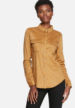 Pieces Coline Shirt Chipmunk