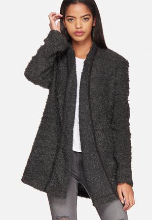 ONLY Cloud Boucle Wool Jacket Dark Grey Melange