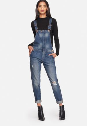 ONLY Bedford Denim Dungaree Jeans Medium Blue