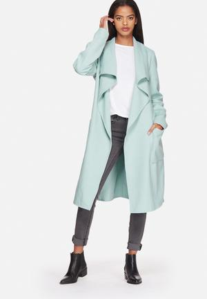 ONLY Phoebe Long Trench Coat  Gray Mist
