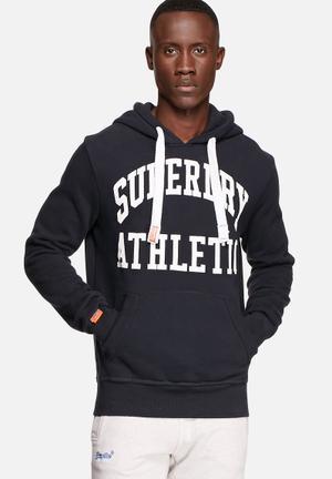 Superdry. Xl Athletic Hood Hoodies & Sweatshirts Eclipse Navy