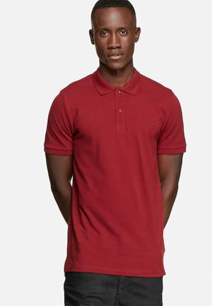 Only & Sons Pique Polo T-Shirts & Vests Cabernet