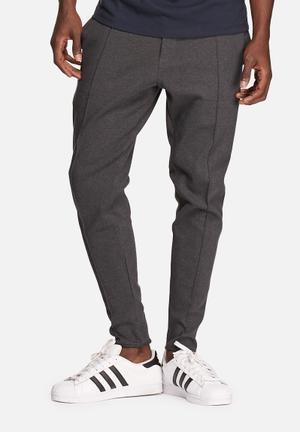 ADPT. Less Sweat Pants Sweatpants & Shorts Drak Grey Melange