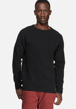 Jack & Jones CORE Mesh Knit Knitwear Black