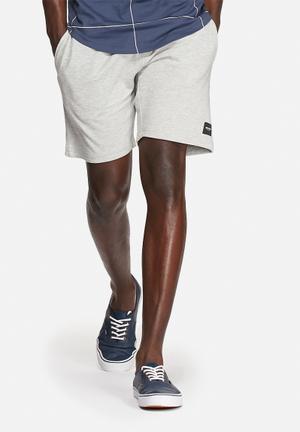 Only & Sons Slub Sweat Shorts  Light Grey Melange