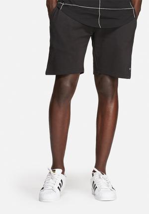 Only & Sons Slub Sweat Shorts Black