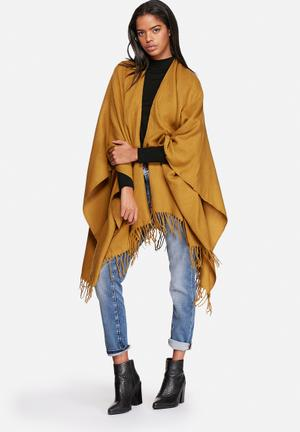 ONLY Aya Weaved Cape Scarves Wood Thrush