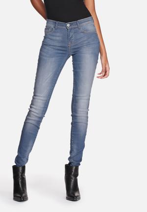 ONLY Shape Regular Skinny Jeans Medium Blue Denim