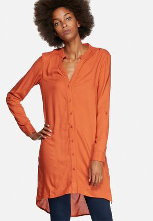 Vero Moda Filliz Long Shirt Orange