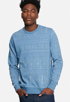 Jack & Jones Vintage Wilbert Sweat Hoodies & Sweatshirts Dusk Blue