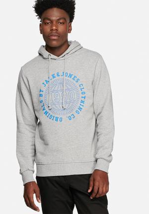 Jack & Jones Originals Steven Sweat Hoodies & Sweatshirts Grey Melange