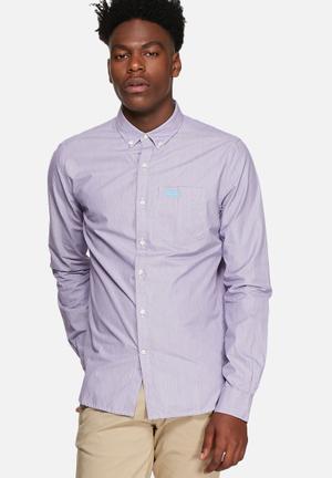 Superdry. London Slim Fit Shirt Purple