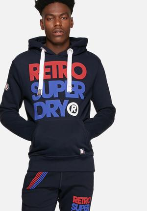 Superdry. Retro Superdry Hoody Navy