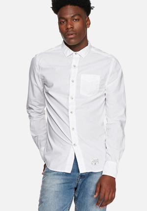 Superdry. Vintage Slim Fit Shirt Powder White