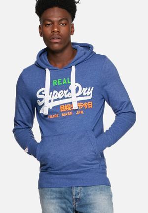 Superdry. Vintage Logo Hood Hoodies & Sweatshirts Blue