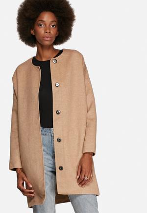 Selected Femme Elisa Coat Camel