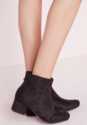 Missguided Block Heel Boots Black